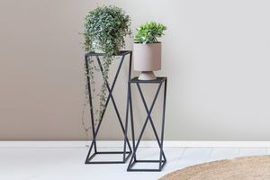 2 plantentafels van Lifa Living (kleur: zwart)