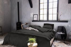 Dekbedovertrek Brussel zwart (200 x 200 / 220 cm)