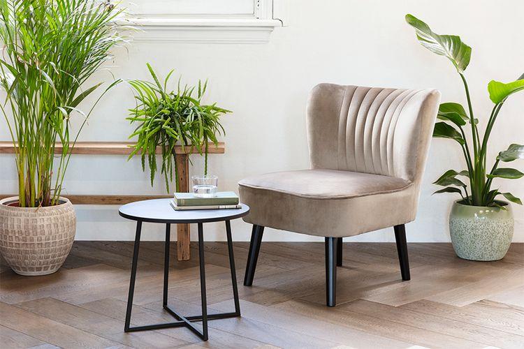 Korting Crèmekleurige stoel van VELYON (model Sofia)