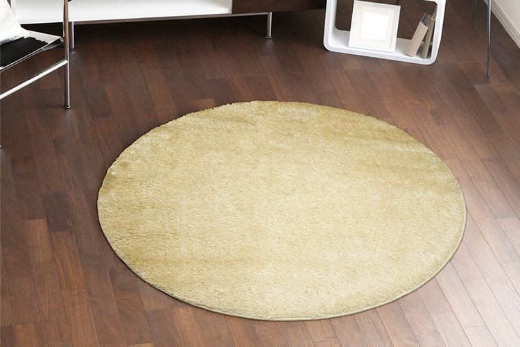 creme tapis rond tapis rond couleur cr me 133 x 133 cm vavabid participez aux ench res. Black Bedroom Furniture Sets. Home Design Ideas