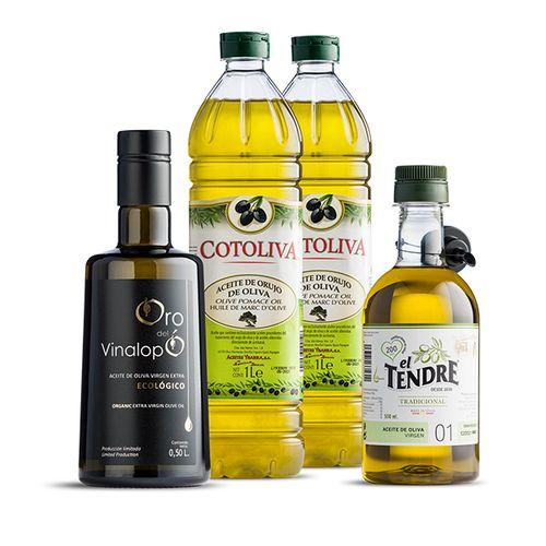 Pakket met 4 flessen olijfolie van Alicanta