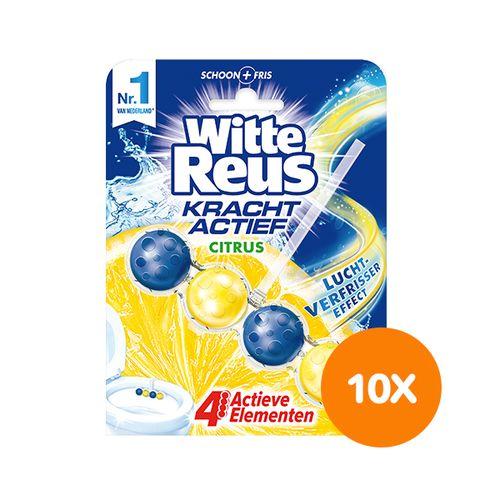 10 toiletblokjes van Witte Reus (citrusgeur)