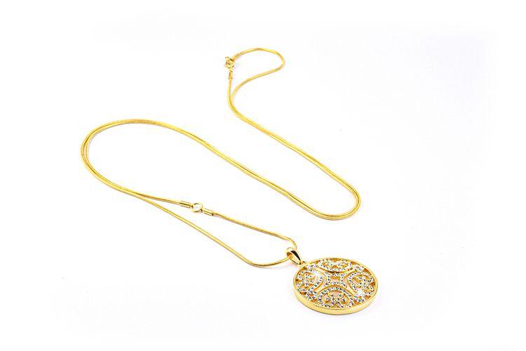 Gouden ketting met Swarovski-elementen van Di Lusso