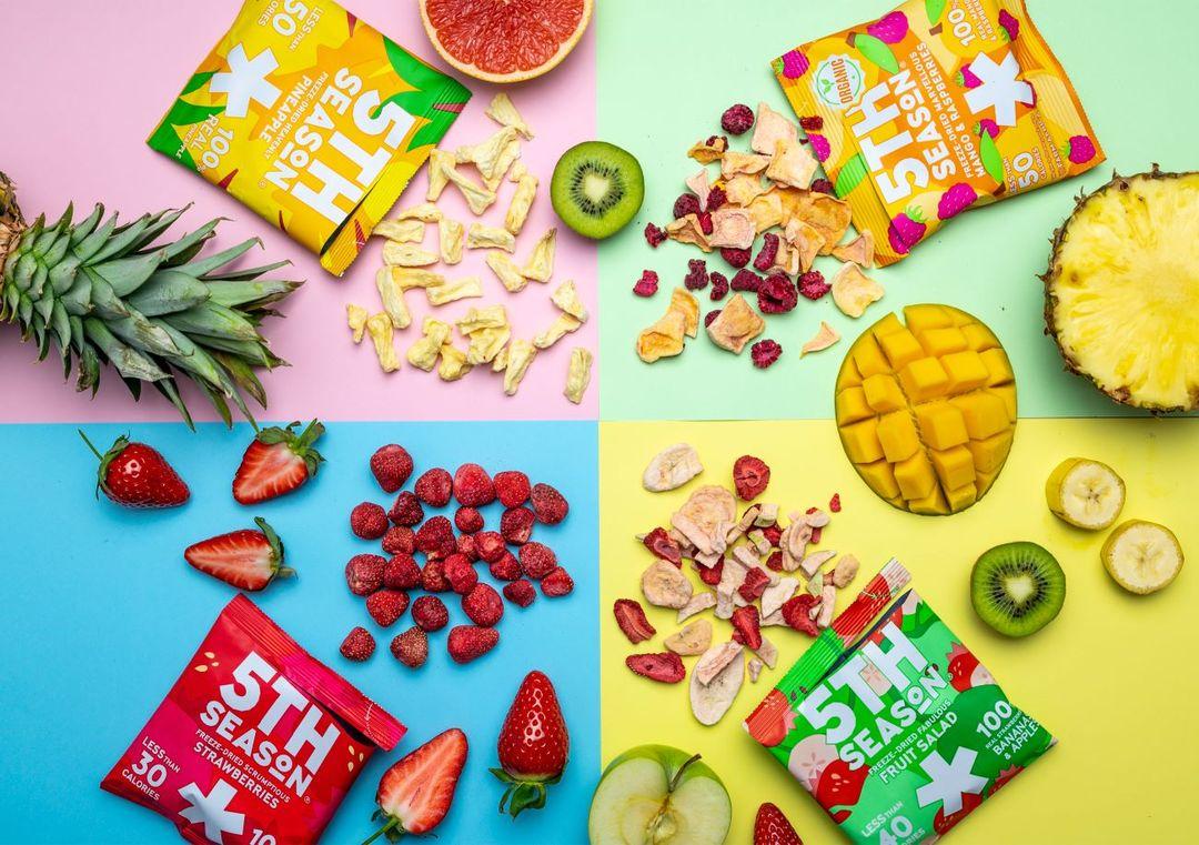 35% korting op fruitsnacks van van 5th Season