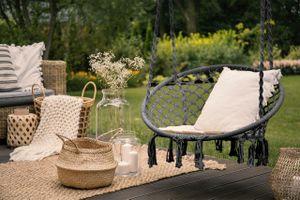 Comfortabele hangstoel (grijs)