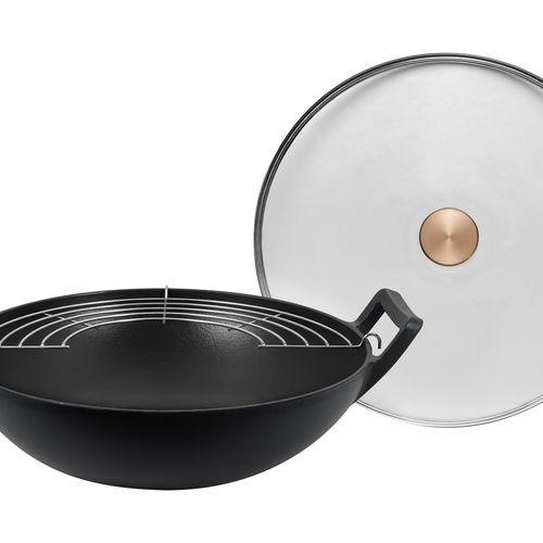 Gietijzeren wokpan van Buccan