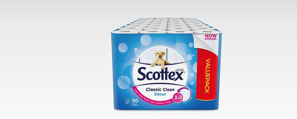 Scottex: 2-laags toiletpapier (96 rollen)