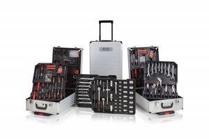 300-delige gereedschapsset Wolfgang in chromen koffer