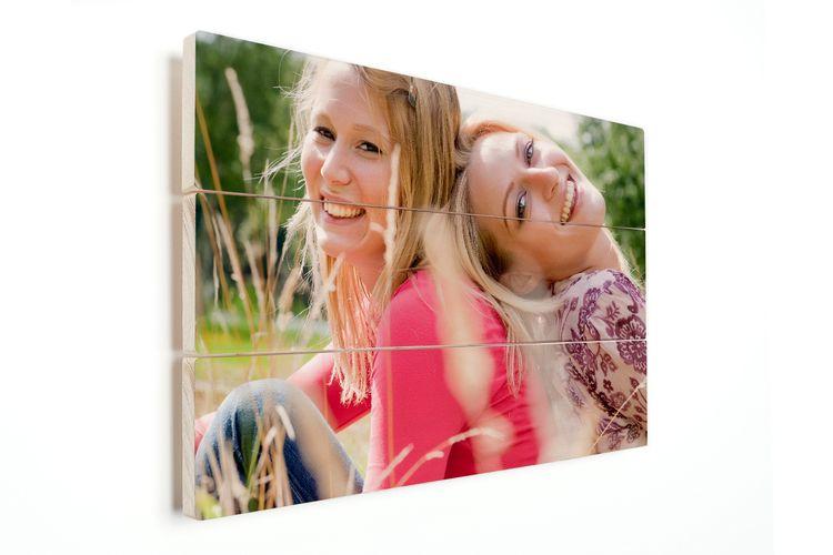 Je mooiste foto op houten planken (60 x 40 cm)
