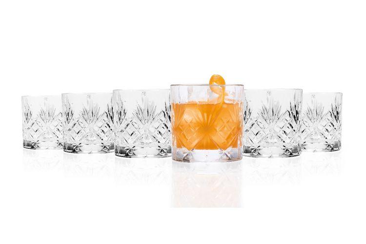Set van 6 whiskyglazen van RCR (230 ml)