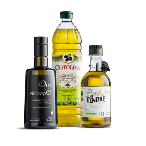 3 flessen olijfolie