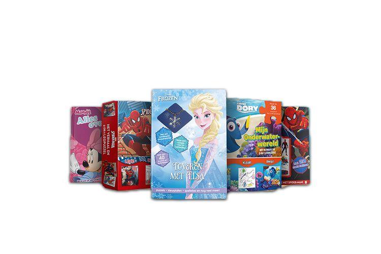 SlaJeSlag 10 activiteitenboeken/boxen van Disney en Marvel
