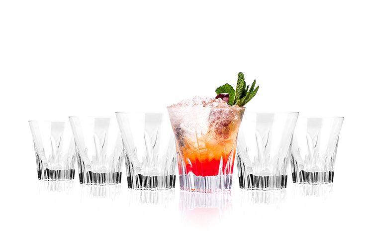 Set van 6 crystal glazen (310 ml)