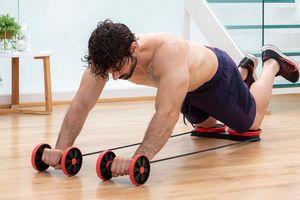 Fitnessroller, knie- en voetenbord en elastische banden