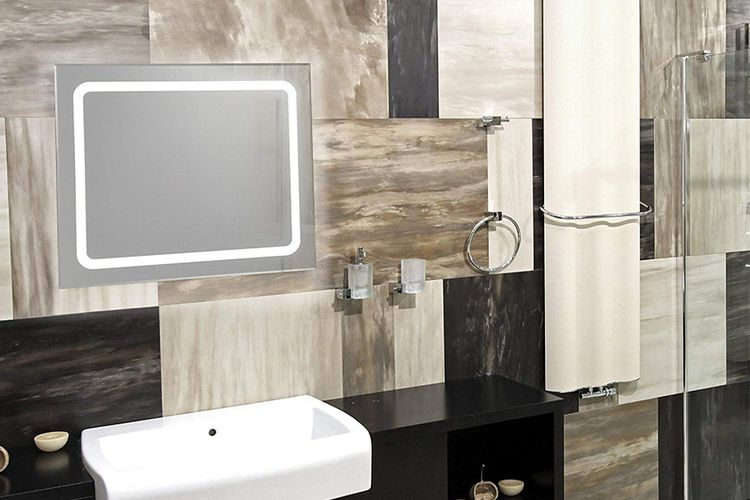 Afmeting Badkamer Spiegel : Led spiegel krollmann badkamerspiegel met led verlichting