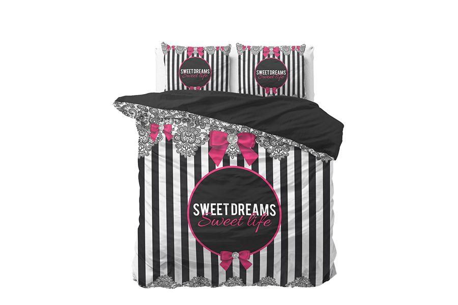 Katoenen dekbedovertrek Sweet Life (200 x 200 cm)