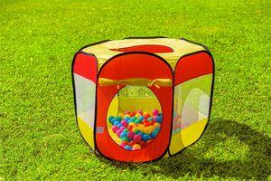Speeltent met 100 gekleurde ballen