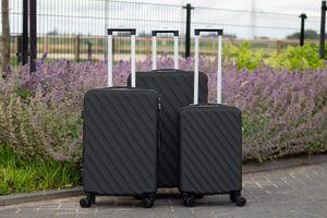 3-delige kofferset (zwart)