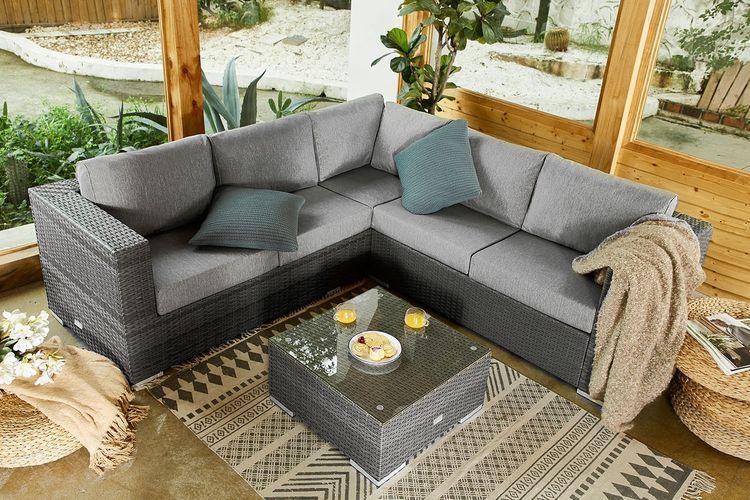 Korting Aluminium loungeset met salontafel van Feel Home