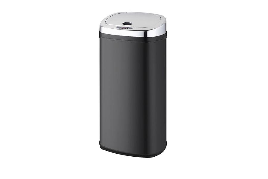 Zwarte prullenbak met sensor (42 liter)