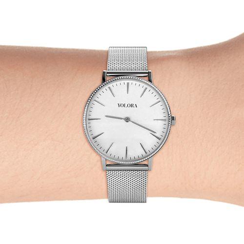 Zilverkleurige horloge