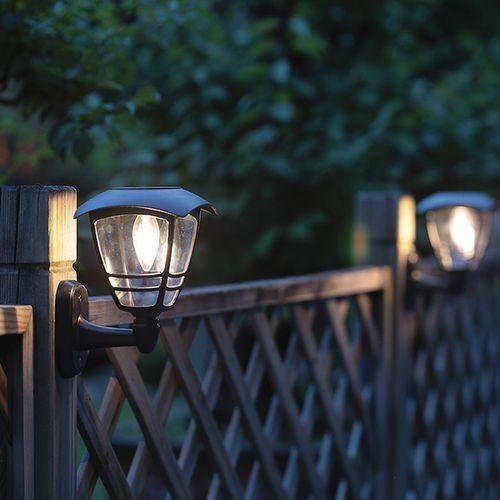 3 solar tuinwandlampen