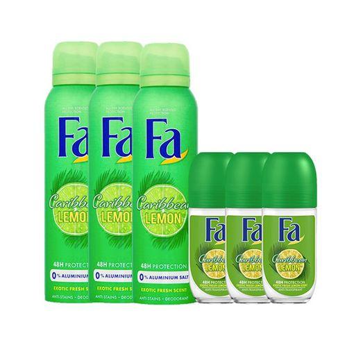 6 deodorants van Fa