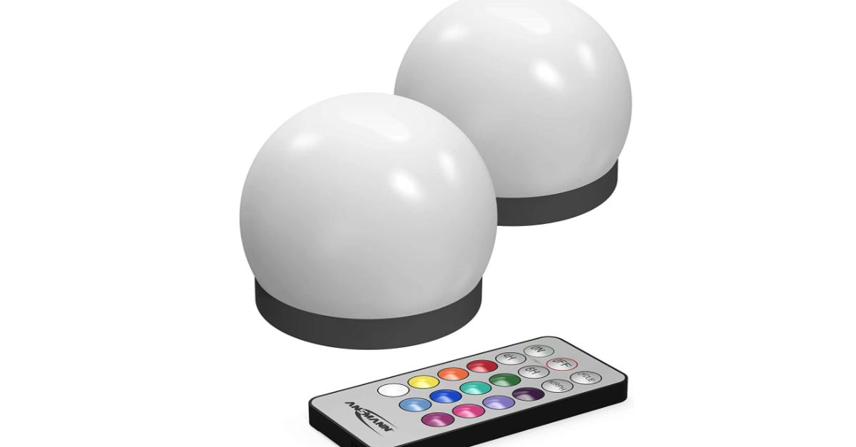 Lampes étanches avec 12 couleurs RGB (2 pièces)