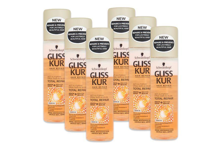 Gliss Kur Total Repair anti-klit spray (6 stuks)