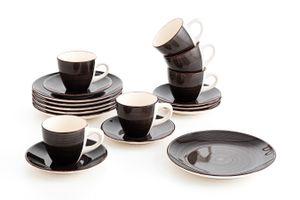 18-delige koffieset van Quid (collectie: Vita Dark Grey)
