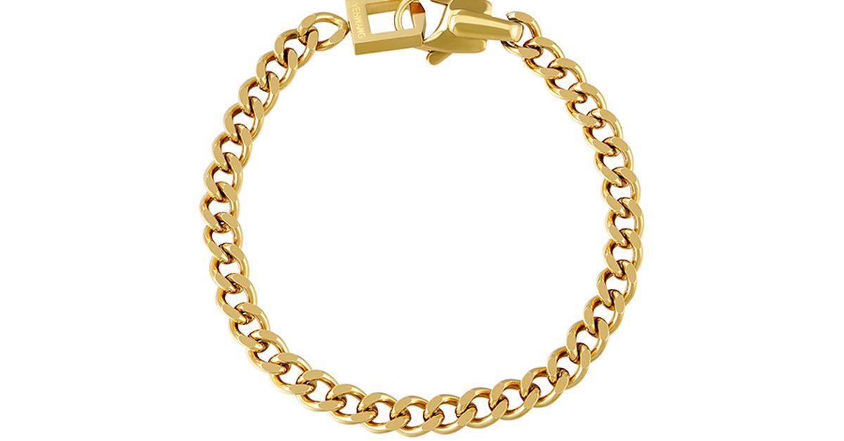Bracelet de couleur or Chain Lina