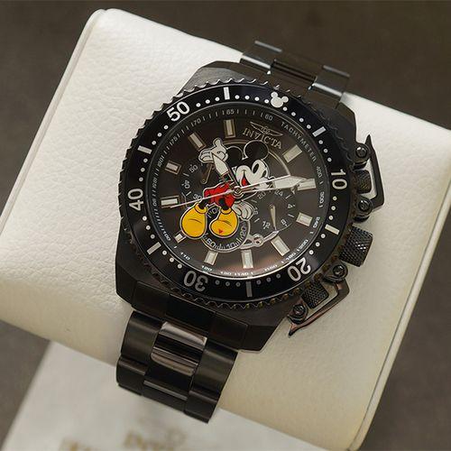 Korting Zwart Mickey Mouse herenhorloge van Invicta
