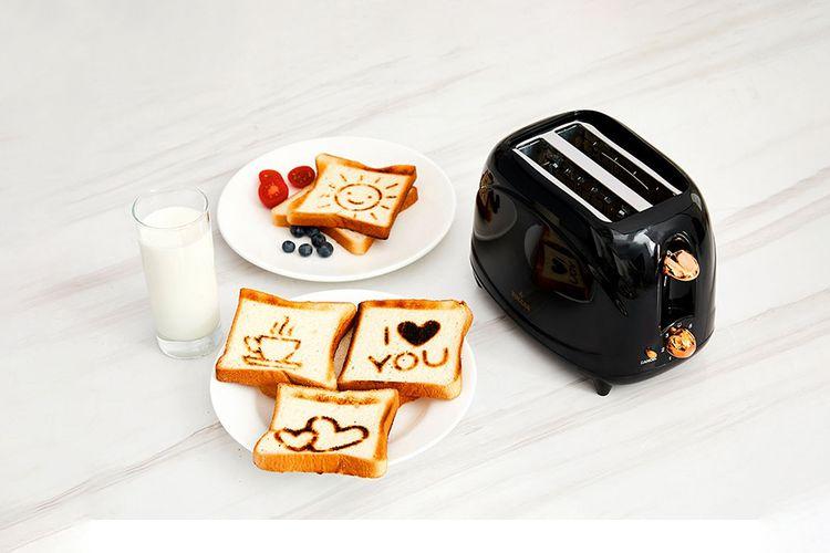 Ros� gouden broodrooster met 4 figuurtjes van Buccan
