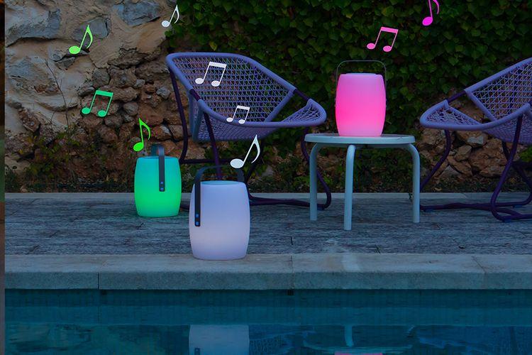 Lucy Play - oplaadbare lantaarn met speaker (multicolor)