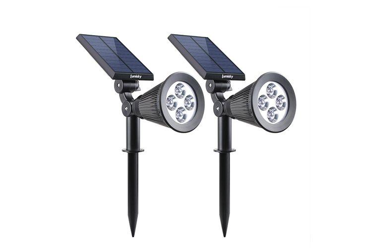 2 solar-spotjes voor buiten (model: Spiky W34)