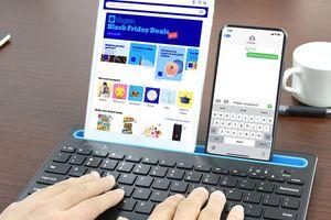 Draadloos toetsenbord met tablet- en telefoonhouder