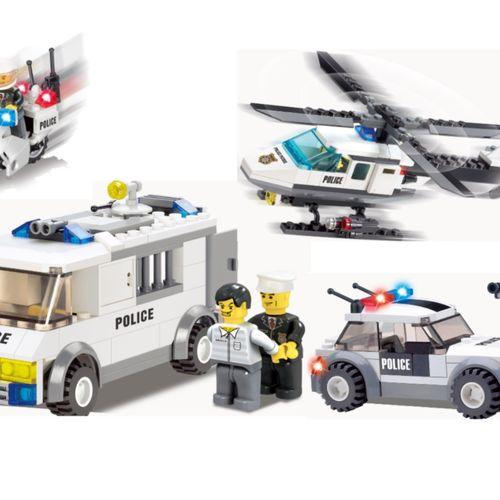 4 politievoertuigen