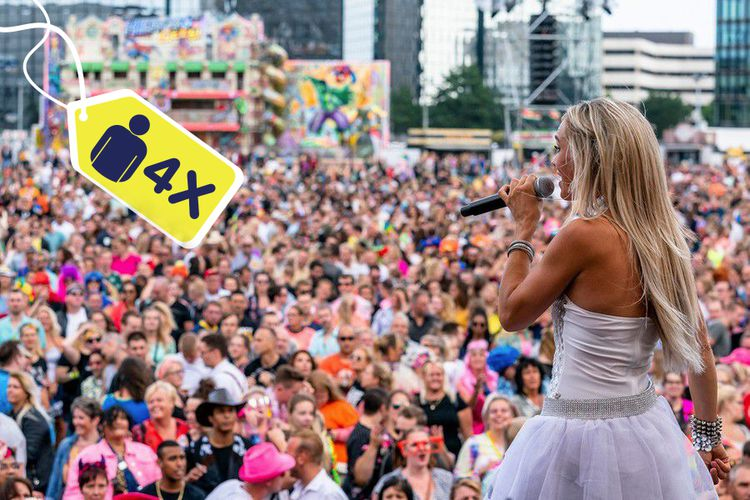 Korting Foute Parkfestival Tilburg met Ch!pz en Captain Jack (4p)