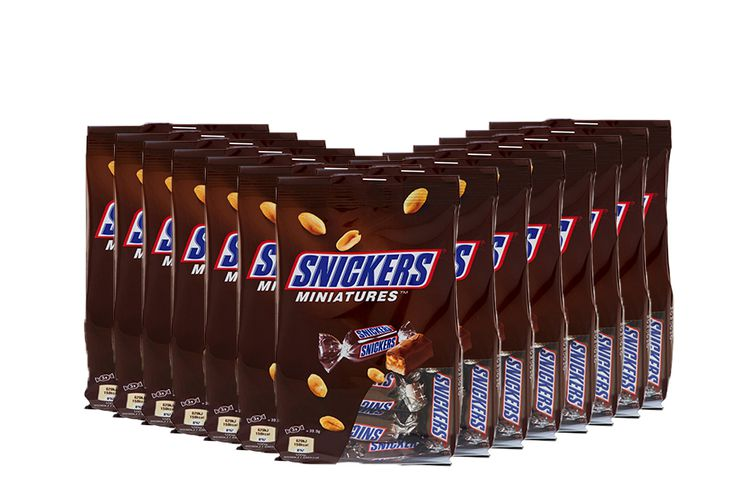 14 zakken mini Snickers