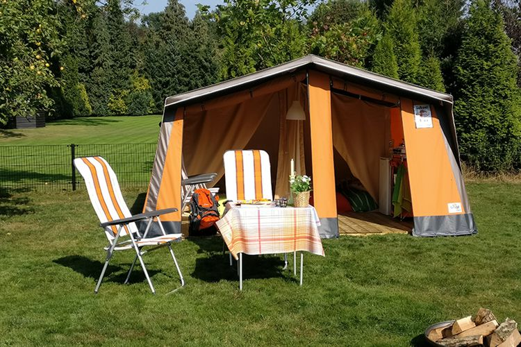 Voorjaar: week in bungalowtent in Franse Bourgogne