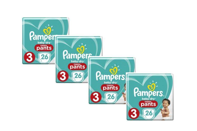 104 luierbroekjes van Pampers Baby Dry Pants (maat 3)