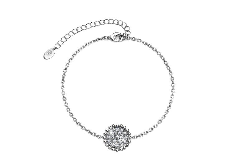 Witgouden armband met Swarovski-elementen