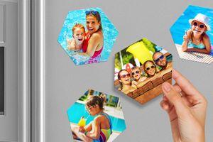 8 koelkastmagneten met eigen foto's