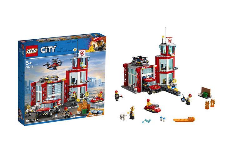 LEGO City Brandweerkazerne + accessoires en minifiguren