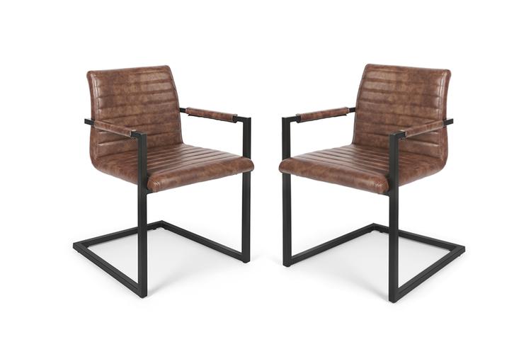 2 Swinger-stoelen (cognac)