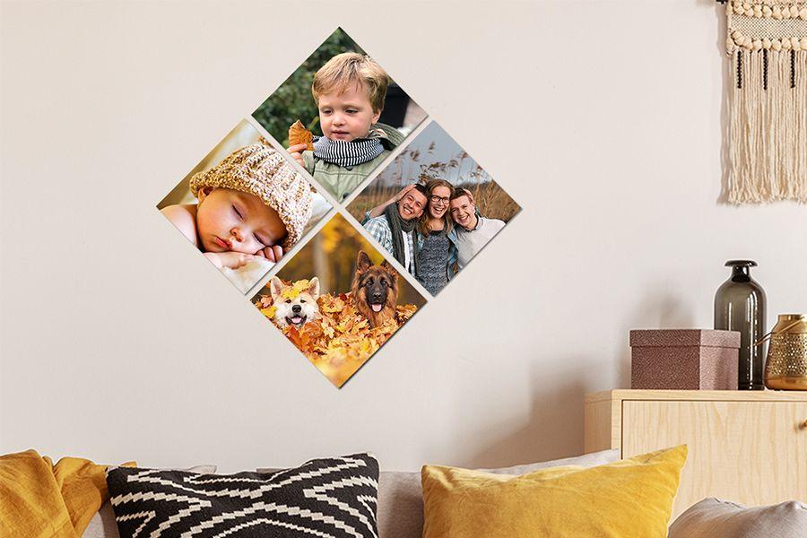 Jouw foto's op 4 MuchoPix-ruitjes (15 x 15 cm)