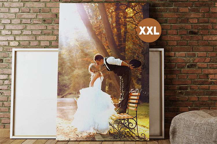 Jouw mooiste foto op canvas XXL (150 x 100 cm)