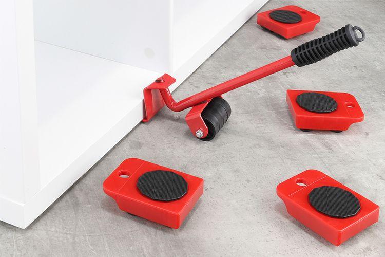 Verplaats je meubels met deze meubelroller (5-delig)