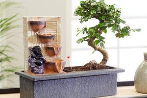Bonsaiboom met waterval en verlichting (25 - 30 cm)