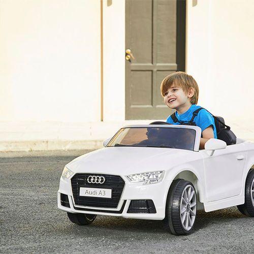 Elektrische Audi A3 met afstandsbediening (wit)